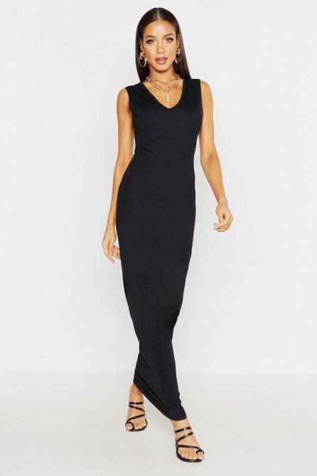 V Front Maxi Dress